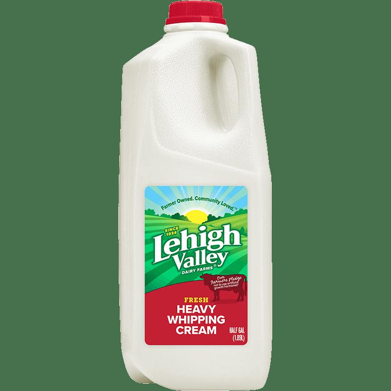 Heavy Whipping Cream Plastic Half Gallon