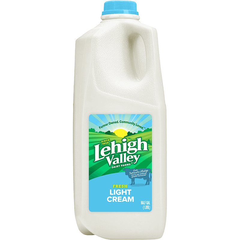 Light Cream Plastic Half Gallon